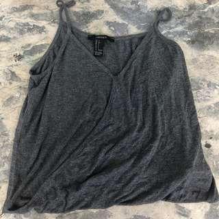 Forever 21 gray sleeveless top