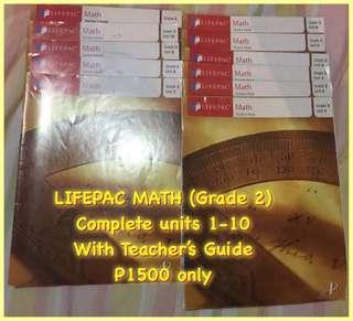 Lifepac Math Science Language Bible grade 2