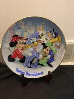 日本迪士尼樂園 絕版 碟 擺設 中古 tokyo Disneyland