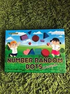 Shichida Tensai Number Random Dots shapes