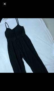 Padded Black Jumpsuit Romper