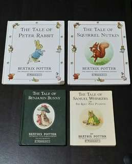 Set of 4 Peter Rabbit Books by Beatrix Potter