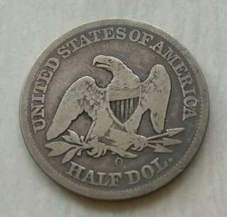 USA 1847O Seated Liberty Half Dollar Silver Coin