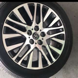 "TOYOTA VELLFIRE ORIGINAL 18"" WHEELS"