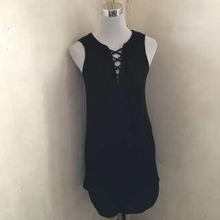 One Clothing Lace Up Ribbed Dress