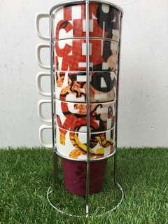 Mickey Stackable Mug Set of 5
