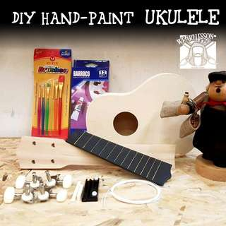 DIY hand-paint ukulele