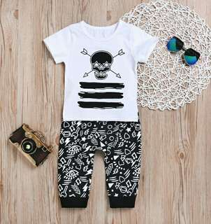 🍀Newborn Baby Boy T-shirt+Pants 2pcs Set🍀