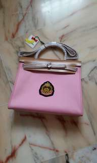 Canvas bag in pink