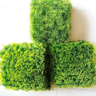 14pcs Plastic Artificial Green Grass Used For Photography/Display