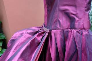 Purple Off the Shoulder Ball Gown