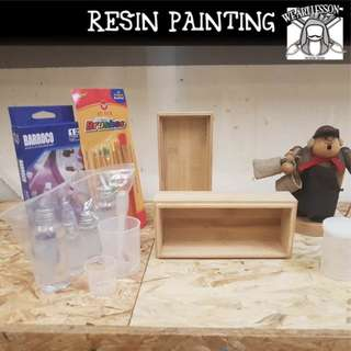 DIY resin painting