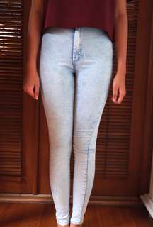 Topshop Joni Jeans ( Light Wash)