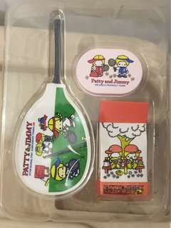 Sanrio vintage minis 食玩 patty and jimmy 球拍