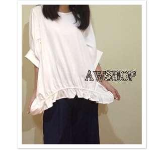 🎀圖領純色拼接t-shirt 🇰🇷韓國製