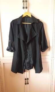Black Lightweight Trench Coat
