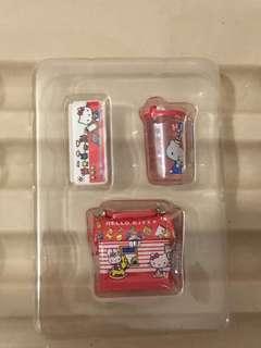 Sanrio vintage mini 3 絕版食玩 hello kitty錢箱