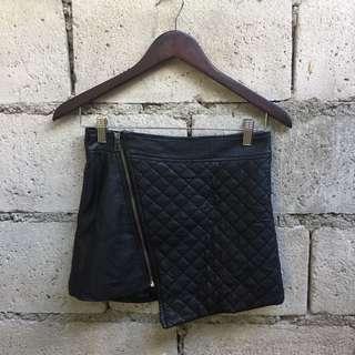 Solemio Leather Skirt