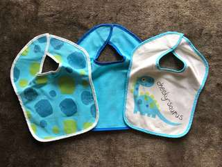 Mothercare Water Resistant Bibs (Cheeky-saurus)