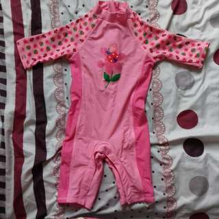 Baju Renang Bunga Pink