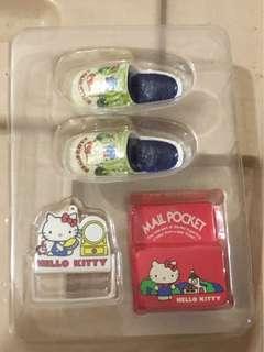 Sanrio vintage mini 絕版食玩 hello kitty 拖鞋