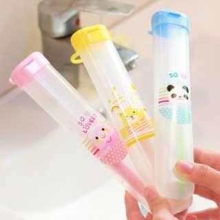 Tabung tempat sikat gigi toothbrush holder portable minimalis - HBH072 - Biru