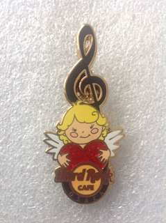 Hard Rock Cafe Pins - OSAKA HOT 2013 VALENTINE'S DAY LOVE CUPID WITH HEART AND MUSICAL CLEF!