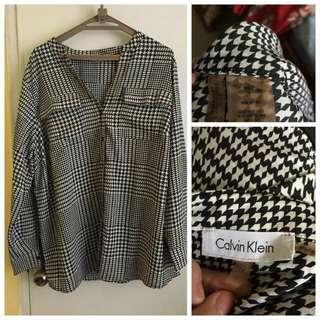 Calvin Klein CK Houndstooth Longsleeves top