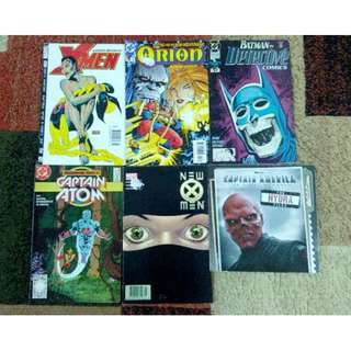 Various DC Comics and Marvel Comics