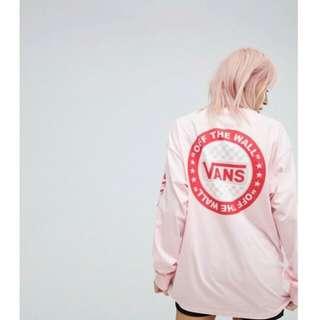 🚚 Vans 粉色oversize長袖