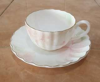 nikko porcelain floral cup and saucer