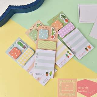 Set of 4 Different Designs The Cactus Sticky Note