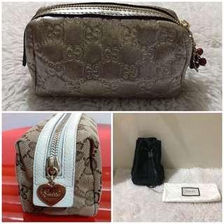 Bundle Sale! Authentic Gucci Make up pouches