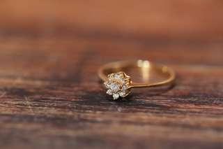 度手訂製 🌺花花形🌺1+8鑽石戒指💍18K 金/錄/玫瑰金 實惠訂製 Diamond Ring