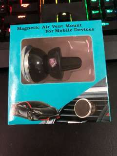 Magnetic air vent mount