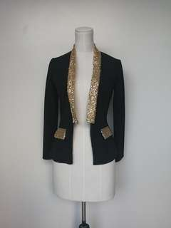 Blazer with Gold Sequins
