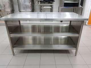 Stainless Steel Work Table 2 shelves