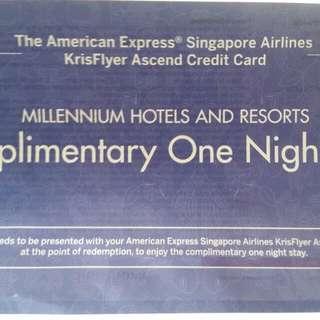 Amex ascend millenium hotel voucher