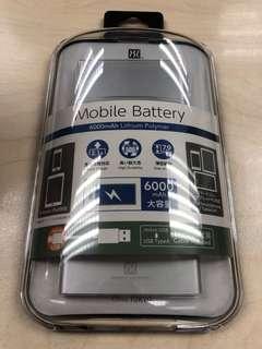 Power Support 手提充電器Mobile Battery 6000mAh