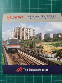 SMRT 10th Anniversary 1987-1997 Silver coin