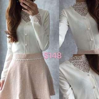 韓國lace斯文上衣