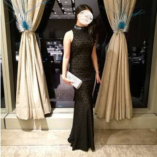 Black long gown (for sale)