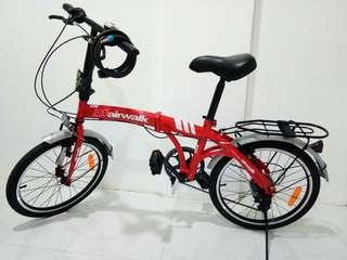 Sepeda Lipat Merah AirWalk