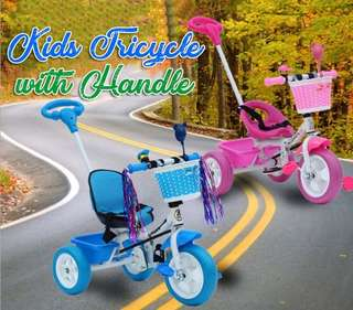 KIDS TRICYCLE WITH HANDLE