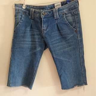 🚚 復古古著感緊身單寧牛仔五分褲
