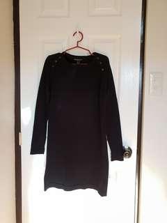 Mango Black Shift Dress