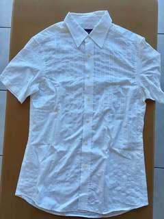 M&S Autograph button down shirt white