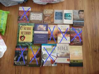 Christian/Bible books,  many titles