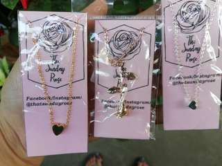 SALE! Rose & Heart Necklaces ***3 FOR 100***