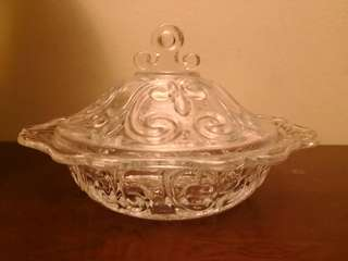Glass bowl with cover